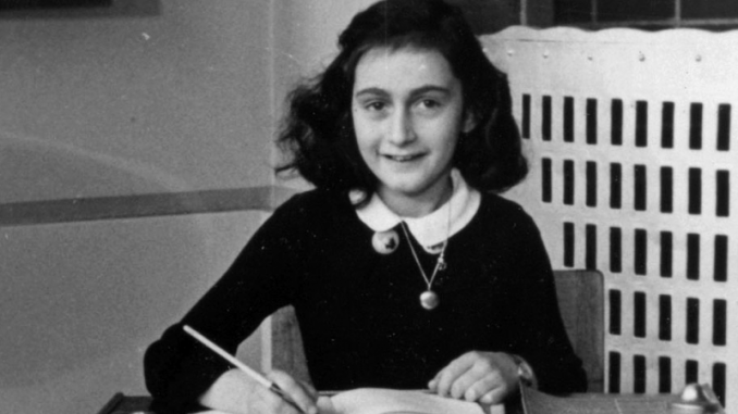 Anne Frank, famous diarist and victim of the Holocaust