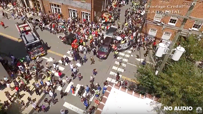 Domestic Terrorist drives car into crowd in Charlottesville, Virginia