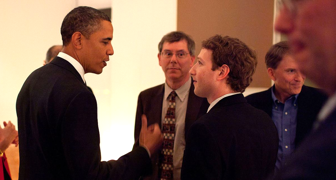 Obama talks to Mark Zuckerberg